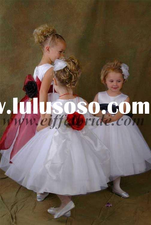 FL-0135 New Style flower girl's dress flower girl dress flower children dresses
