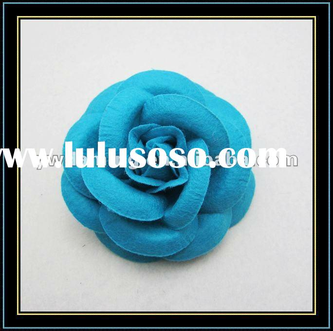 Felt flower for hair accessories,artificial flower for decoration