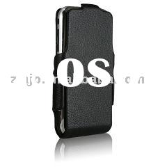 Flip leather Case for iPhone in Phantom Black