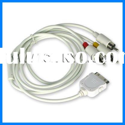 For Iphone AV cable, usb cable for iphone, av cable for 3g 3gs