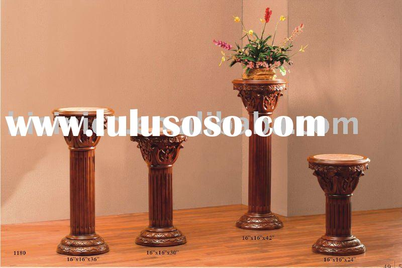 Hand carving solid wood flower stand,antique flower stand,solid wood furniture