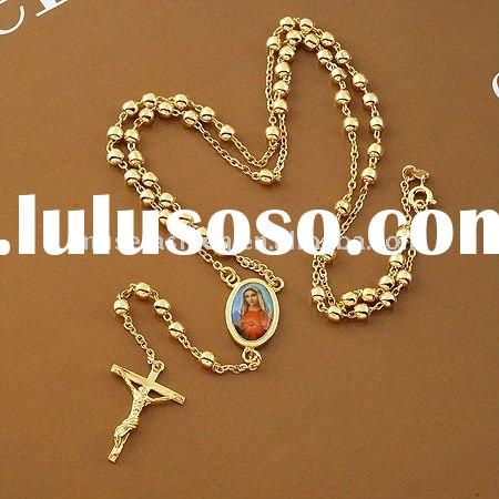 High quality 24K gold plating gold necklace religious jewelry