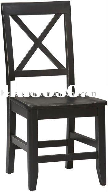 KD Antique Black Dining Chair X Back - Kitchen Chairs - Wood Kitchen Chairs
