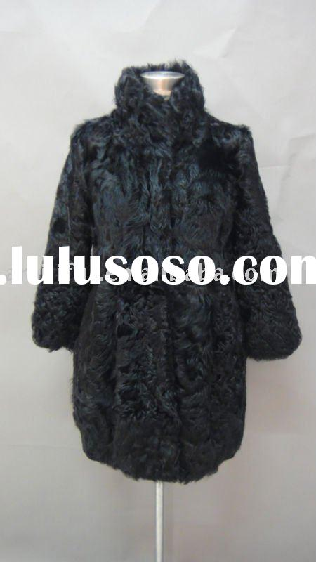 Ladies Fashion Lamb Fur Coat NEW HOT FOR 2011/2012 ( Style: #B125 )