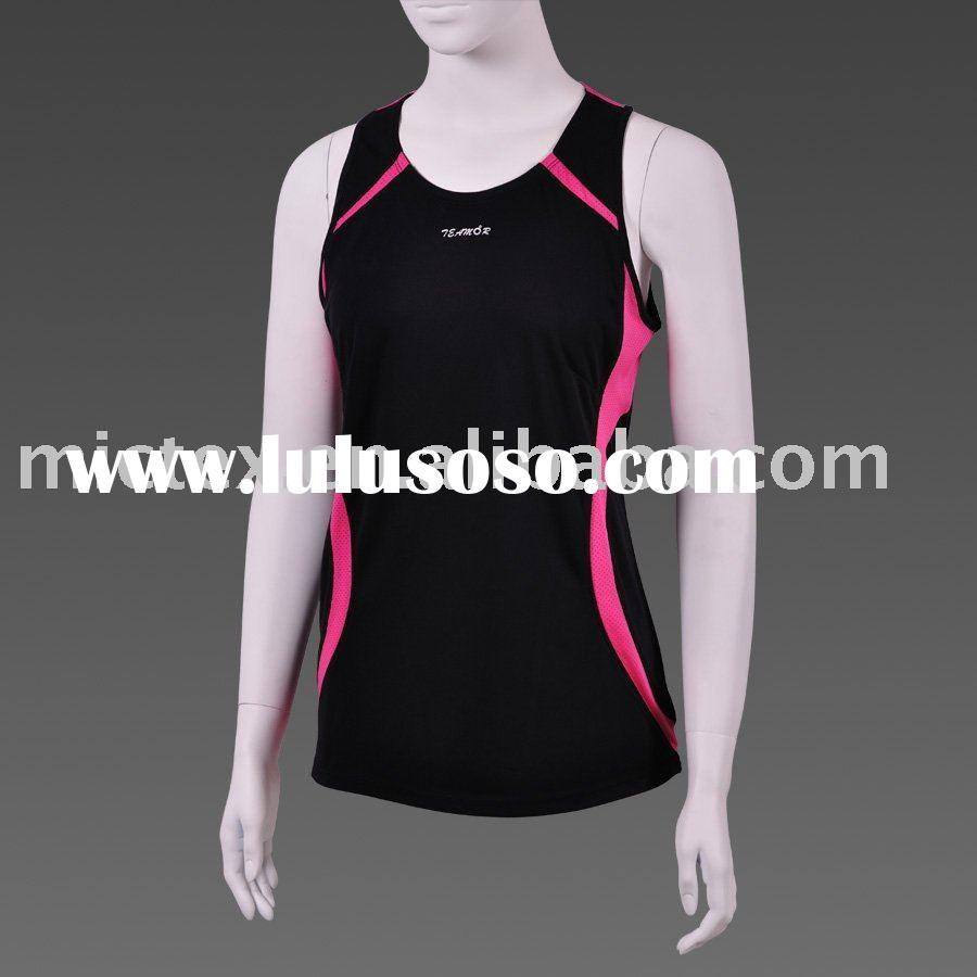 Ladies' T-shirts sports wear sleeveless quick dry