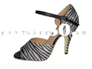 Latin shoes Latin Tango ballroom dancing shoes zebra stap