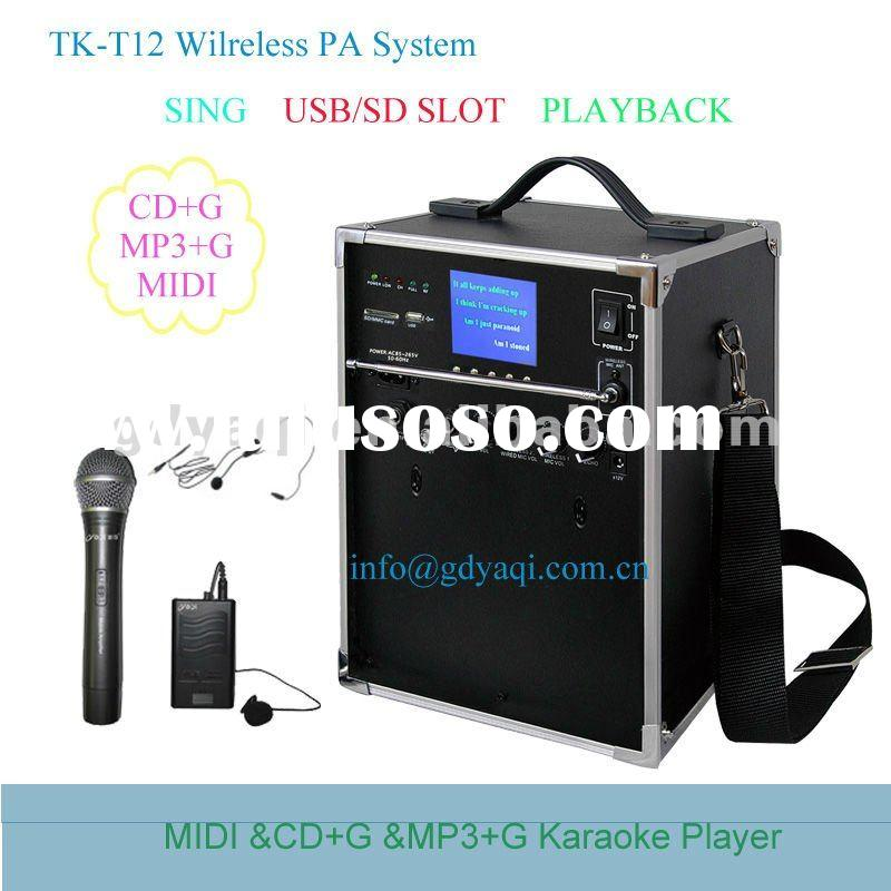 MP3+G/MIDI Player, Hard Disk Karaoke System TK-T12 With USB/SD Slot