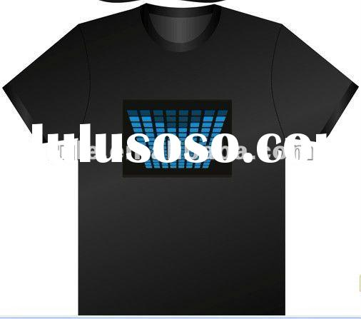 Music led t shirt wholesale for custom designs products with cheap price