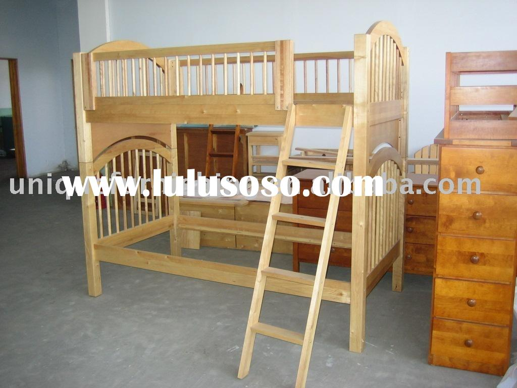 Nursery wood furniture/pine wood bunk bed