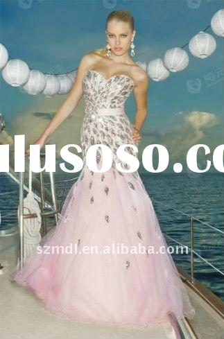 Pink Organza and Sequins Beaded Mermaid Sweetheart Neck Halter Evening Dress