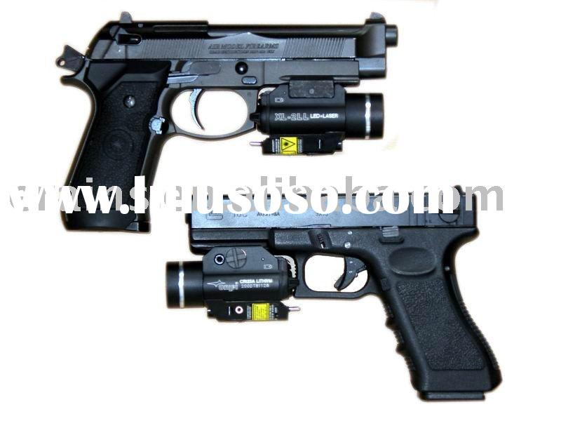 Pistol mounted green laser sight and 200 lumen CREE Q5 LED light combo
