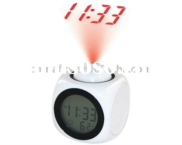 Projection Alarm Clock Talking Clock LCD Clock