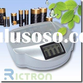 Rechargeable alkaline battery charger supported NI-MH,NI-CD,ALKALINE,AAA,AA,9V,C,D 19