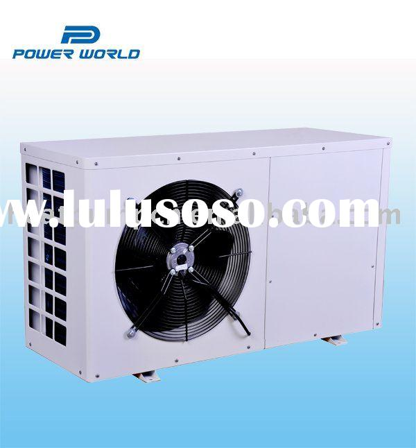 Residential air source heat pump with solar water heater