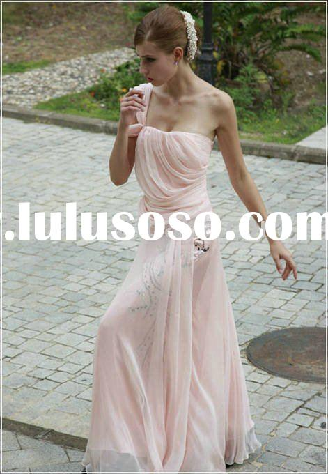 Retail C80213 pink beach wedding dress taffeta ruffle lace beading sequins empire backless column dr