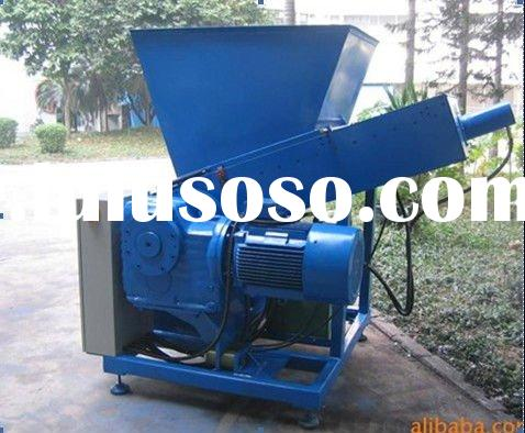 Single shaft shredder (plastic bottle shredder)