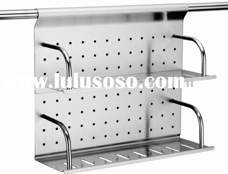 Stainless Steel Double Shelf Spice Rack H104-2