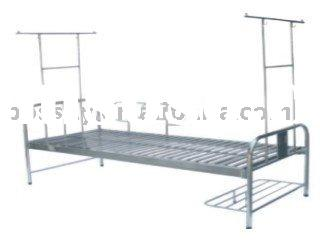 Stainless Steel Hospital Bed with Mosquito Net Frame