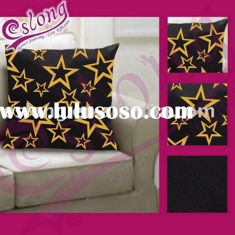Star Decorative Cushion 100% Cotton Fabric Printed Home Textile