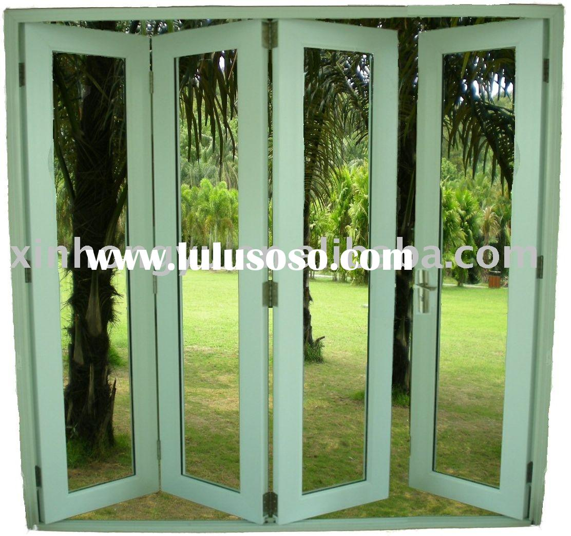 Pvc door folding pvc door folding manufacturers in for Plastic french doors