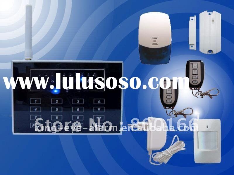 Wireless GSM & Pstn AutoDial Home Security Alarm System with touch keypad