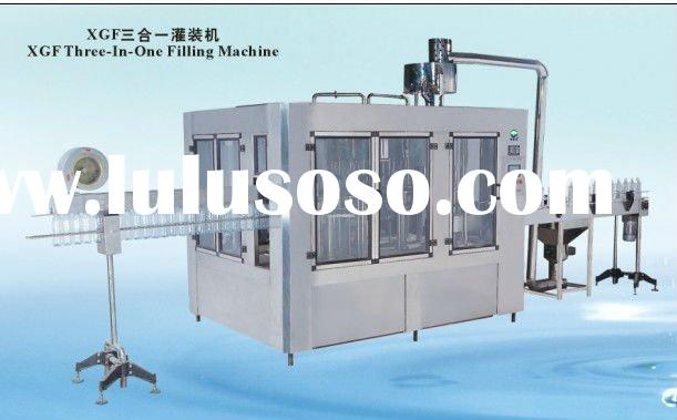 XGF18-18-6 3 in 1 bottle washing filling and capping machine
