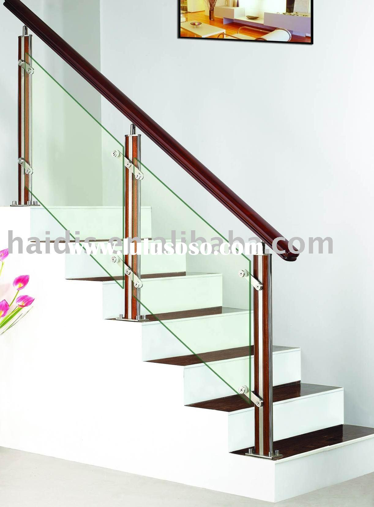 glass steel staircase railing
