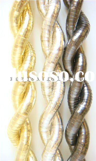 gold/silver/black hot sell bendable snake necklace