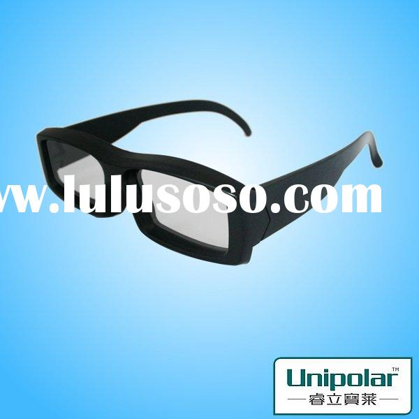 high quality 3d digital cinema glasses with plastic frame and polarized lens for Master Image theatr