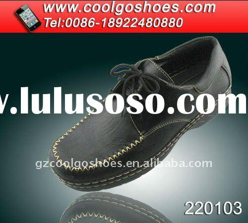 high quality hand made men shoes for relax made in guangzhou