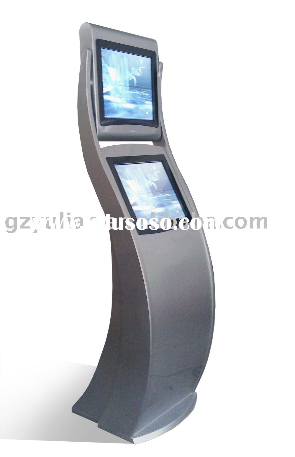 information kiosk/dual screen kiosk/ automation machine/ ticket printer/Big size touch screen displa