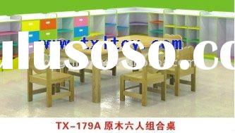 kids wooden table and chairs TX-179A