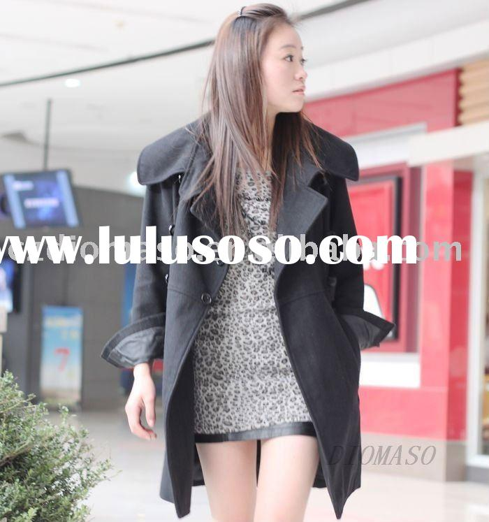 korean, winter wool coats for women