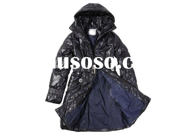lady fashion brand down jacket with feather inside