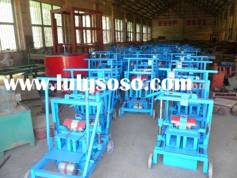low price small manual hand operate brick and block making machine