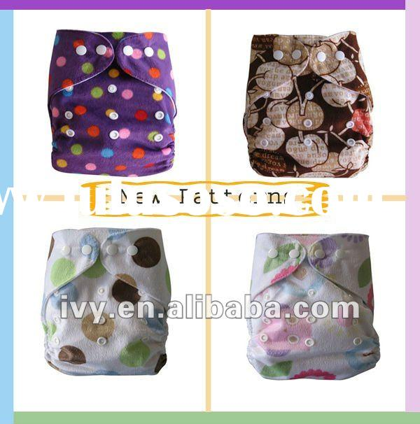 new printing pattern minky baby cloth diaper