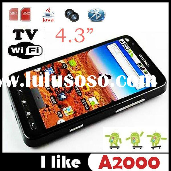 newest Star A2000 Android 2.2 Dual SIM Quad Band Built-in GPS 4.3 Inch Big Screen MTK6516 Dual Core