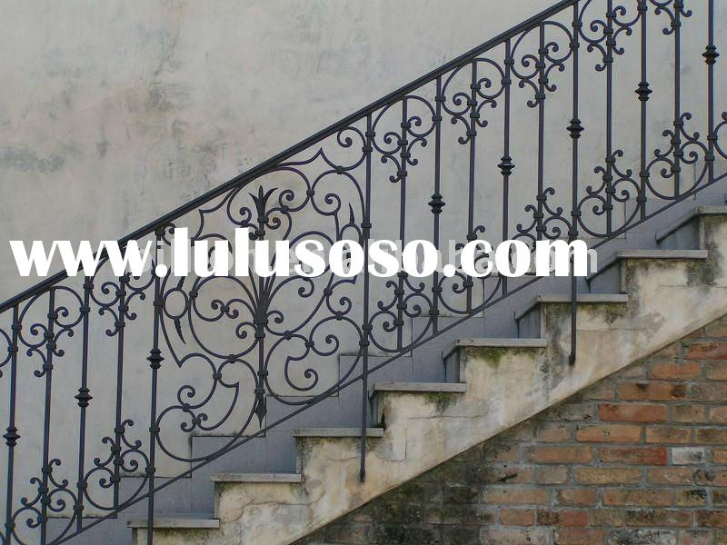 Pin Outdoor Wrought Iron Stair Railing Staircase Parts Handrails On Pinterest