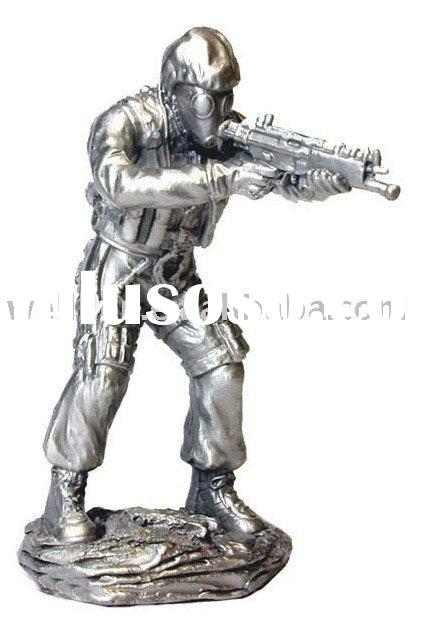 pewter soldier,pewter statue