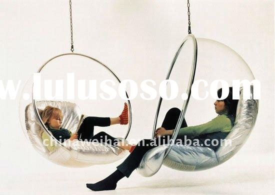 pop acrylic hanging bubble chair