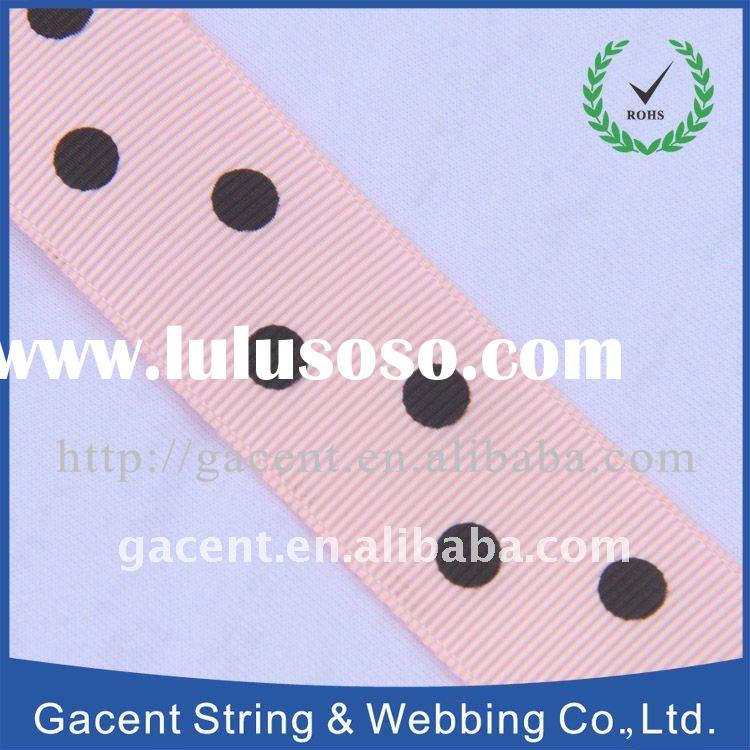 printed polyester double face satin ribbon