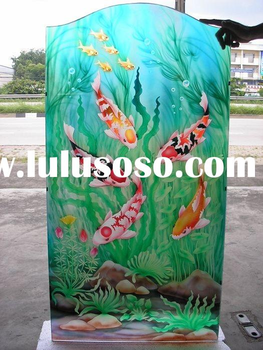 pvc glass panel,art glass, carved glass, glass solid wooden door