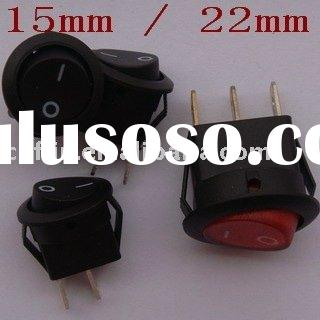 smallest 15mm mini round Rocker Switch Car Boat