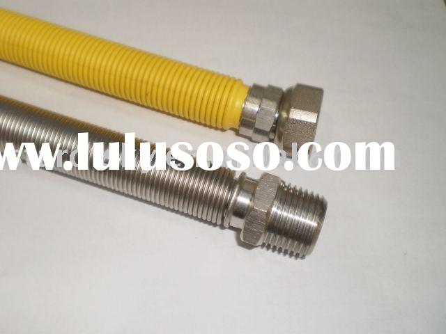 stainless steel flex metal hose with (or without) yellow cover