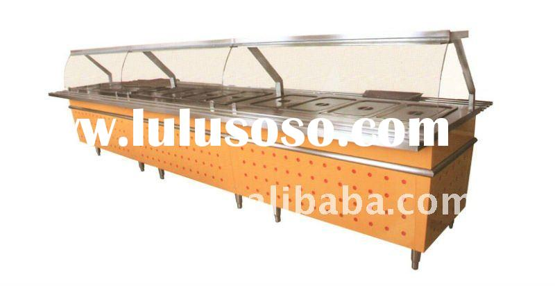 stainless steel heavy duty Chinese food buffet display warmer restaurant equipment manufacture price