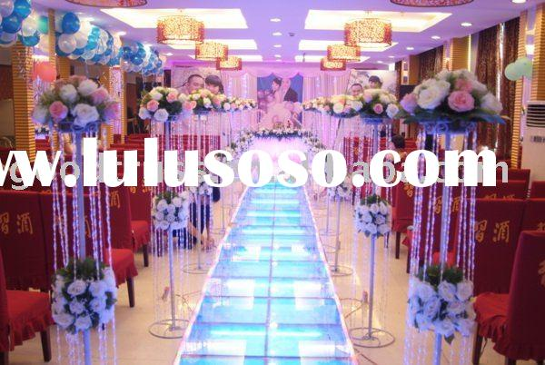 wedding glass stage decoration / art glass for events / cerebration / ceremony