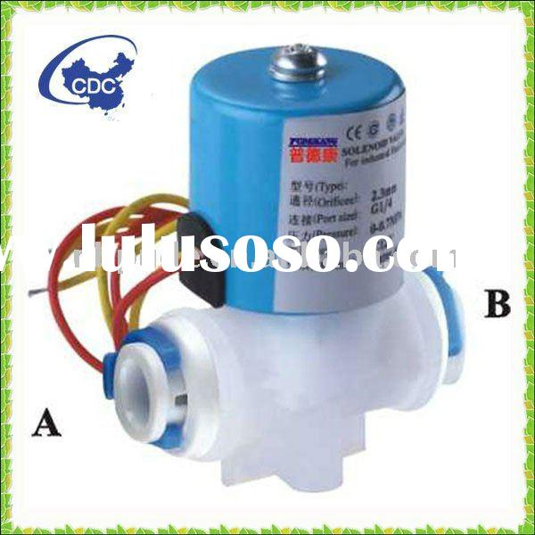043A ro water purifier parts DC 12V solenoid valve with quick connector