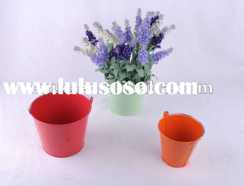 110231 Metal Crafts Round Garden Galvanized Flower Pot