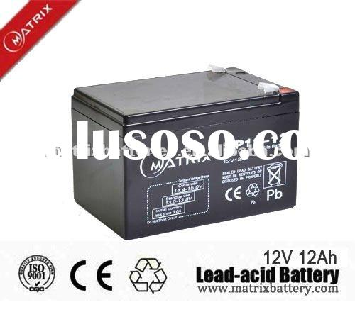 12V lead acid battery container