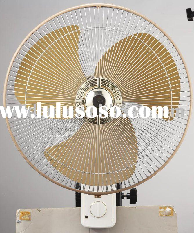 "16""wall fan with metal blade (beige color)"